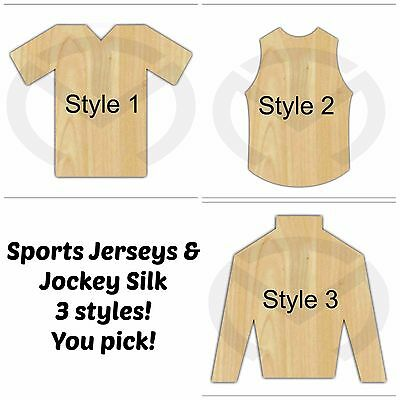 Unfinished Wood Jersey and Jockey Silk Laser Cutout Wreath Accent Door Hanger  sc 1 st  eBay & Unfinished Wood Jersey and Jockey Silk Laser Cutout Wreath Accent ...
