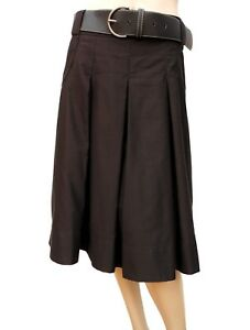 198cfe3089d9 Jupe CAMAIEU T 40 L 3 sous genoux Marron Ceinture Poches Fête Skirt ...