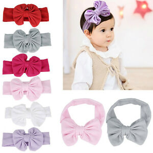 Cute-Baby-born-Infant-Girl-Toddler-Bow-Headband-Headwear-Hair-Accessories-New