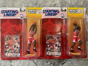 2- 1994 B.J. ARMSTRONG (ROOKIE) CHICAGO BULLS (RARE) STARTING LINEUP UNOPENED