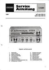 Service Manual-Anleitung für Grundig MT 100,MXV 100