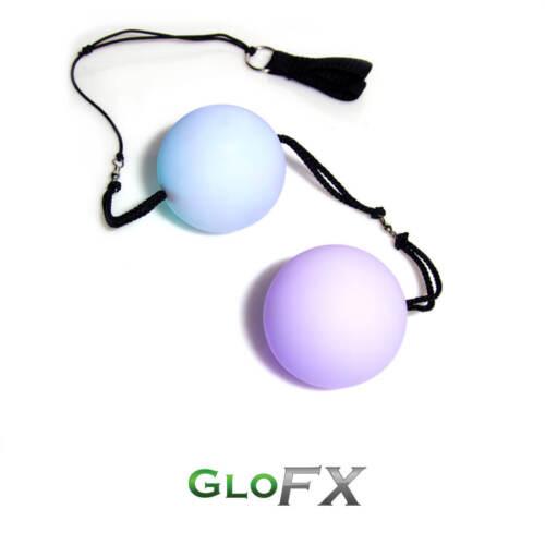 GloFX LED Pivot Poi 9-Mode Color-Changing Spin Rave Toy Heavy-Duty Nylon Leash
