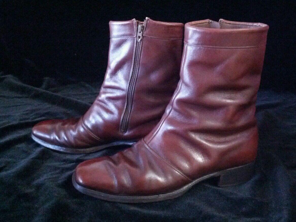 Vintage Nettleton Dark Brown Pelle Dress Style Stivali Shoes Size 10 AA/B
