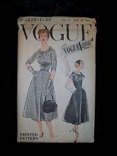 VOGUE Vintage 1950s Special Design Pattern S 4820 Full Skirt Dress Size 40 Uncut