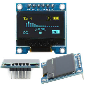 0 96 Spi Iic I2c 6pin Oled Display Module Blue Yellow For Arduino