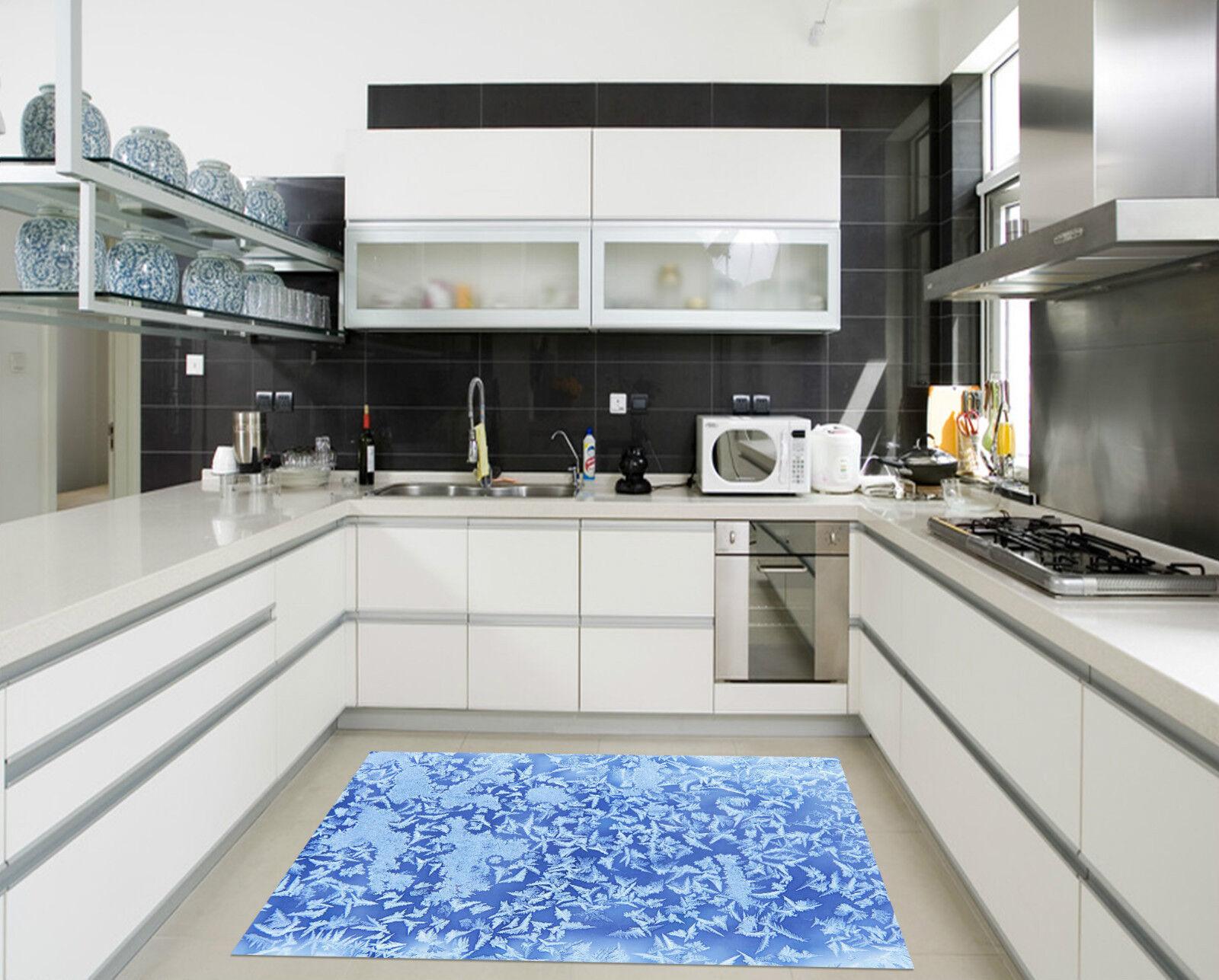 3D Snow Leaves Kitchen Mat Floor Murals Wall Print Wall Deco AJ WALLPAPER CA