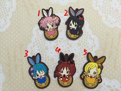 Puella Magi Madoka Magica Anime Rubber Strap Keychain Key Ring Charm Theater Ver