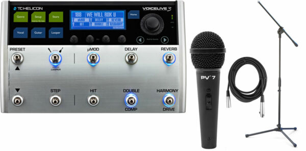 tc helicon voicelive 3 live vocal harmony guitar multi effects pedal brand for sale online ebay. Black Bedroom Furniture Sets. Home Design Ideas