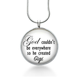 Grandma-GIGI-Necklace-God-couldn-039-t-be-everywhere-mother-grandma-personalized