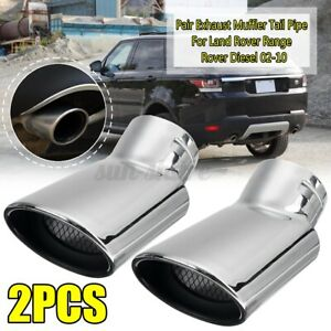Twin Stainless Steel Exhaust tips for Range Rover L322 2002-2010