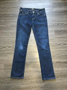 Citizens-of-Humanity-Women-s-Low-Rise-Straight-Leg-Jeans-Dark-Wash-Size-26
