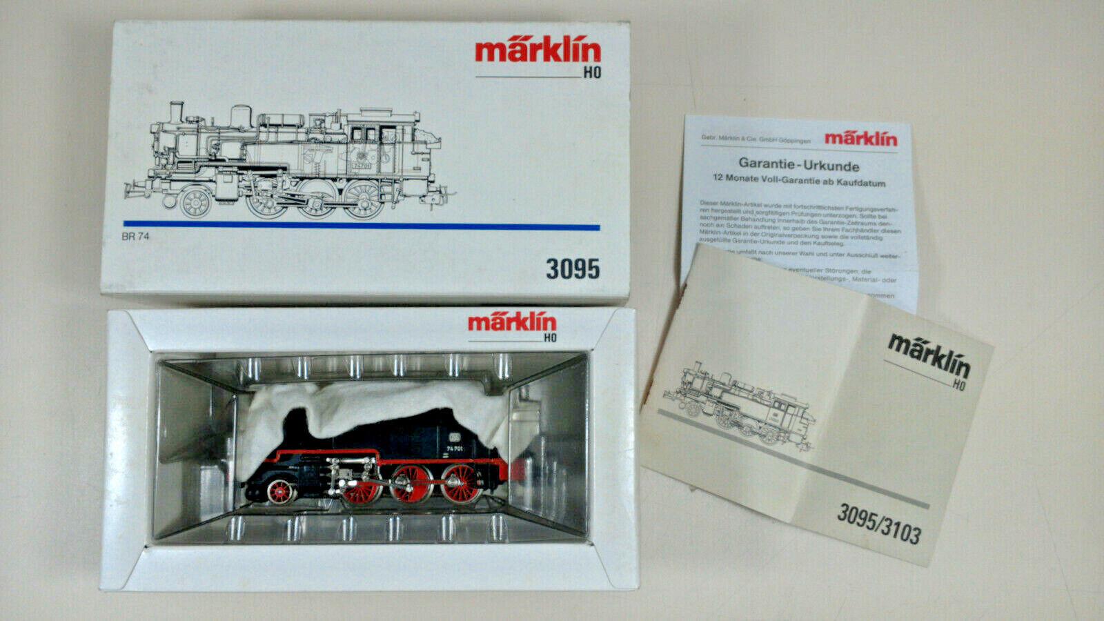 Märklin H0 3095 Dampflok BR 74 701 der DB neuwertig im Originalkarton