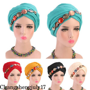 New-Muslim-Women-039-s-Necklace-Hijab-Caps-Muslim-Head-Scarf-Shawl-Head-Wrap-Hats