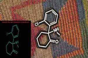 Special K Hole Ketamine Meow Kat Glow in the Dark Molecule Psychedlic Enamel Pin