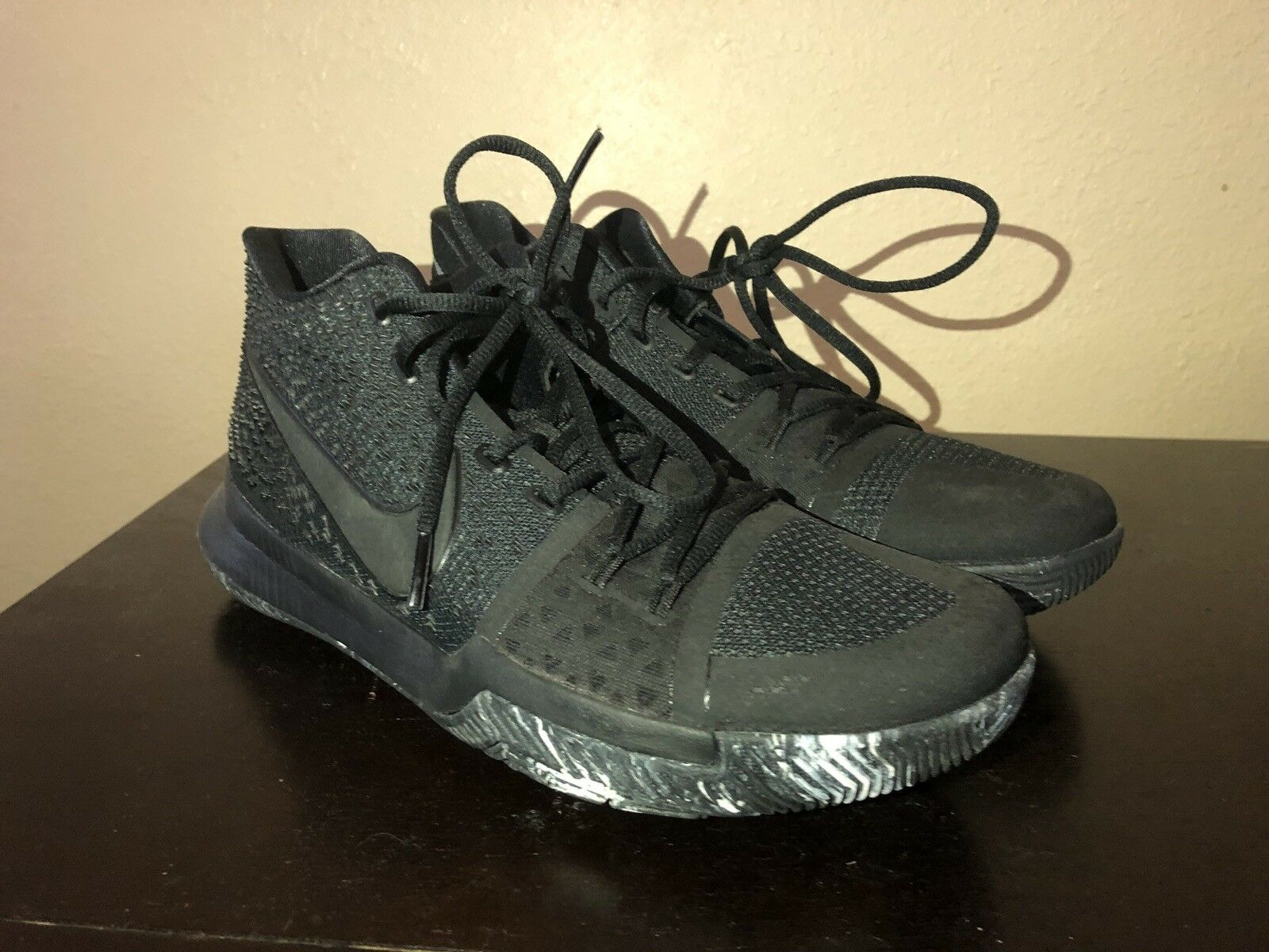 cheaper 58959 bd14c Kyrie 3 triple black Marble Mens Size Size Size 10 54dc0f ...