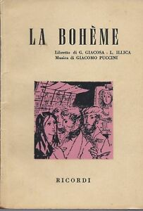 BOHEME PUCCINI LIBRETTO EBOOK DOWNLOAD