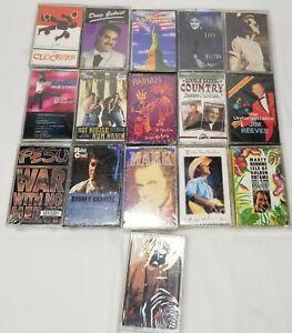 Lot of 16 New Cassettes various artits Pariah FESU Jim Reeves Ohara Raye Gabriel