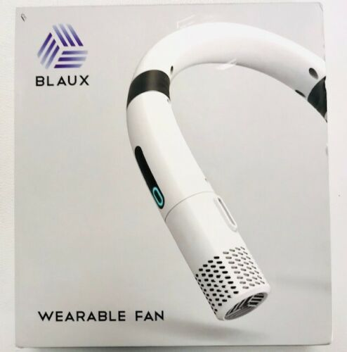 Blaux Personal Neck Fan Wearable Rechargeable Air Conditioner White