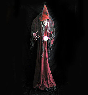 6 Foot Lifesize Hump Back Evil Witch Standing Haunted House Halloween Party Prop