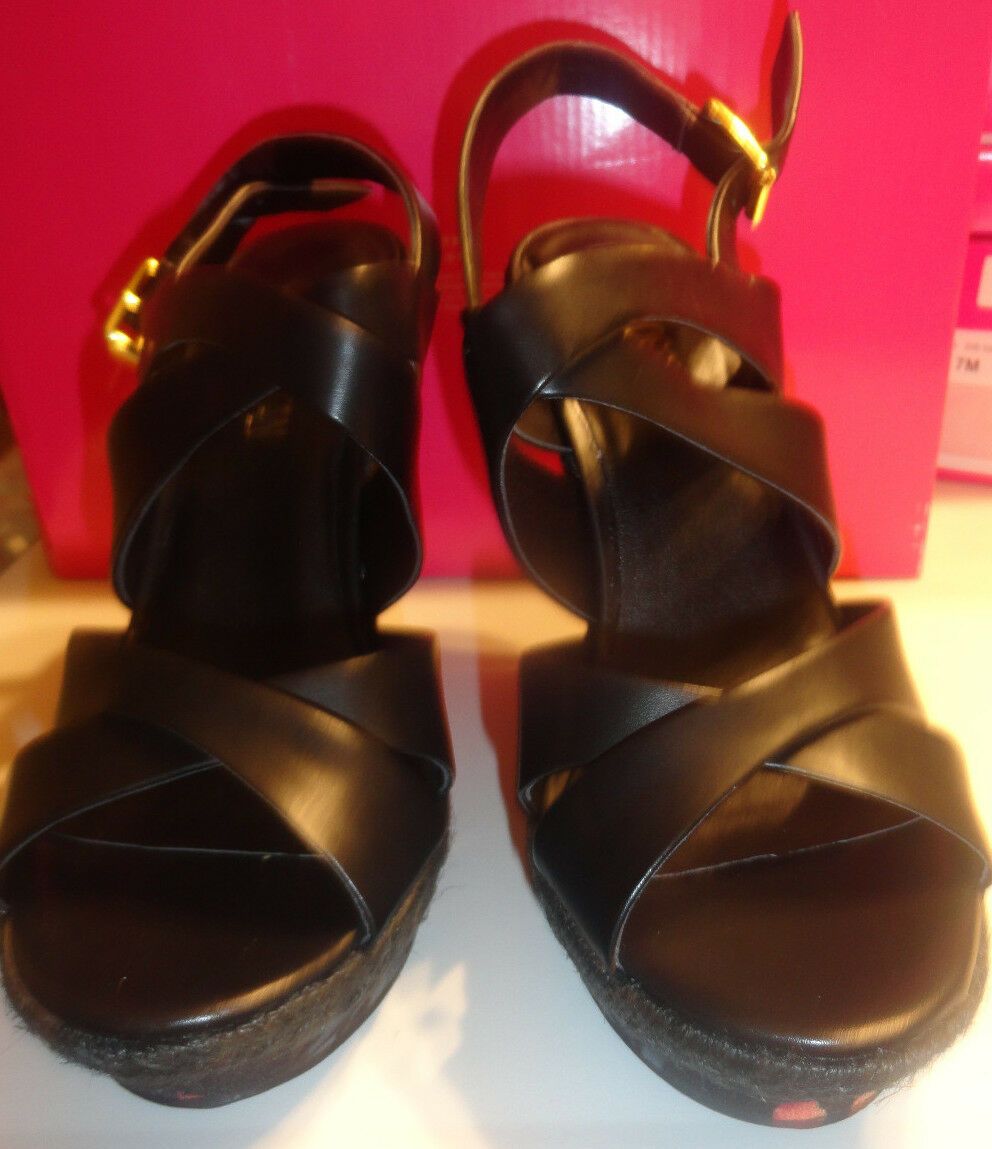 Ladies Cosmopolitan Darah Black Strappy Sizes Floral Sandals High Heel Sizes Strappy 7, 8 89639d