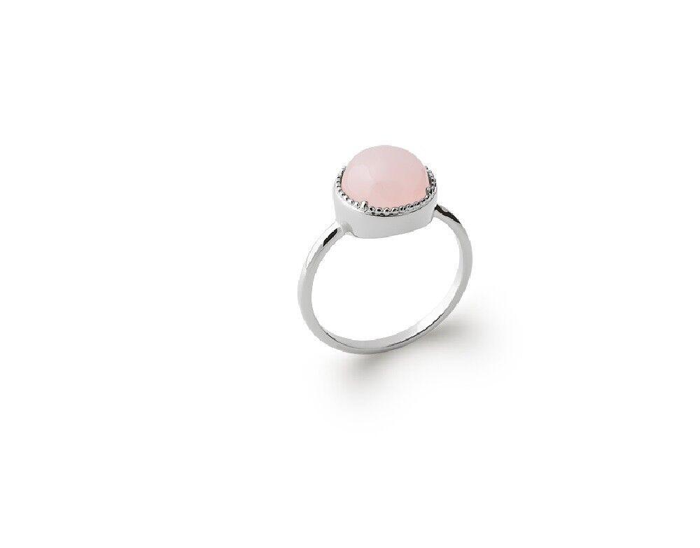 Bague cabochon quartz quartz quartz rosa argento massif 925°°°rhodié garanti sans nickel f92aea