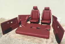 BMW e30 325/318 New Cardinal Red Seats Set & Cards For IS & I (1982-91)$2500.00