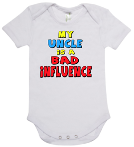 Baby romper suit one piece new short sleeve cotton My Uncle Is A Bad Influence