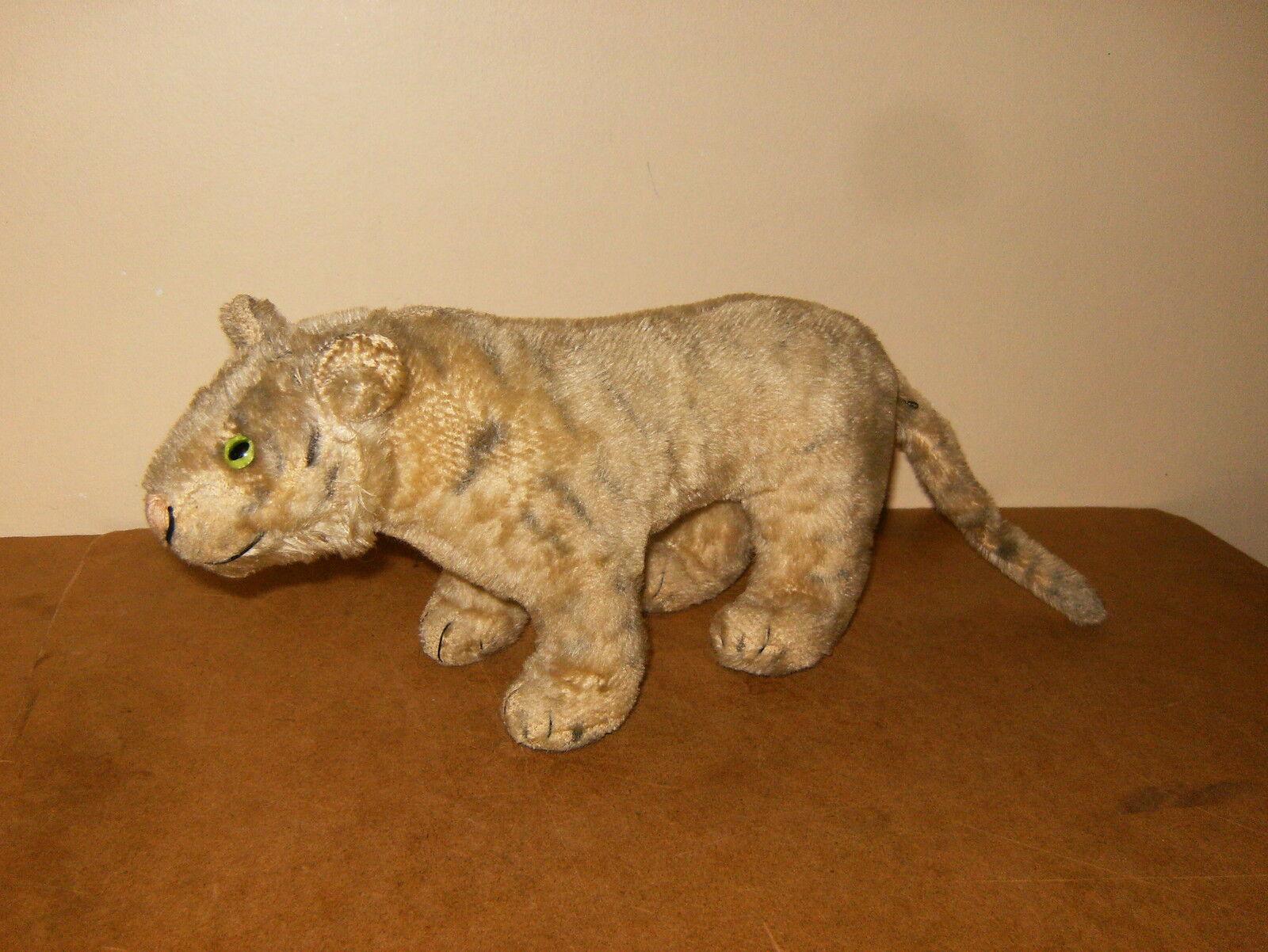 Ancien   vintage STEIFF Tigre Weiß   Weiß tiger feline (45cm   17 inches)