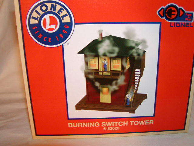 Lionel 682020 Burning Switch Tower PlugnPlay Train Accessory O 027 nuovo 2015