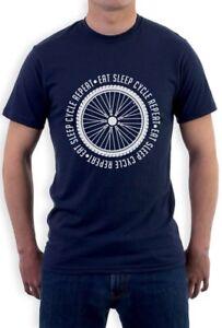 Eat Sleep Bike Repeat T Shirt Cycing Cyclist Gift All Colours Tee Womens T-Shirt