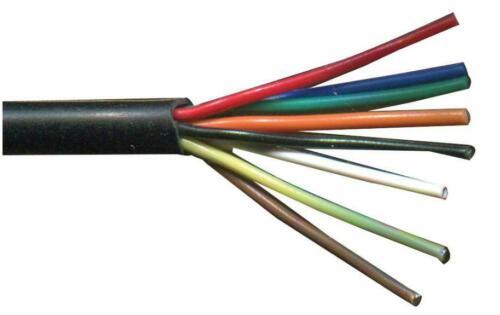 Black PRO POWER 8-Core Alarm Cable 0.22m²