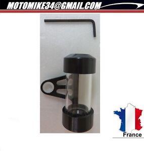 Porte-Support-Tube-Vignette-alu-noir-Etanche-Assurance-Moto-custom-cylindrique