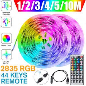 USB LED Strip Lights 5M 10M 2835 RGB Dimmable TV Back Lighting+Remote Control R