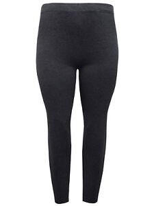 Plus Size Full Length Charcoal Melange Cotton Leggings By Red Tag Sizes 18-26