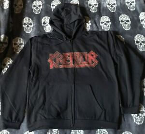 Kreator Hooded Jacket Pleasure to Kill Zipper Zip Hoodie Teutonic Thrash Metal