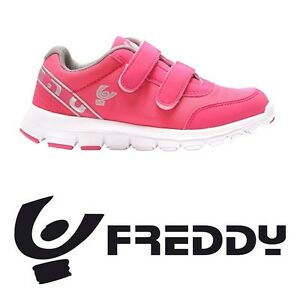 Scarpe-sportive-da-bimba-Freddy-F5KFCL2F-Rosa-Argento-mesh-strappo