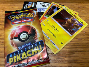 Detective Pikachu 2019 Movie Promo 2 Card Pack SM190 Pokemon New Sealed