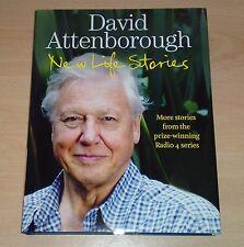 Sir David Attenborough SIGNED New Life Stories 1st edition 1st print Hardback