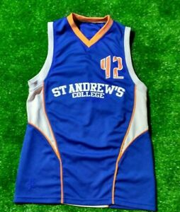 basketball jersey college St andrews college 42 basketball ...