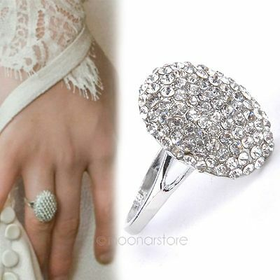 NEW Women's Wedding Rings Engagement Ring Alloy Crystal Jewelry Size 6,7,8,9,10