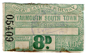 I-B-Great-Eastern-Railway-Paid-Parcel-8d-Yarmouth-South-Town