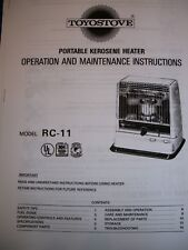 KERO-SUN Toyotomi,Toyostove Double Clean DC 100 Owners Manual Parts//Operation