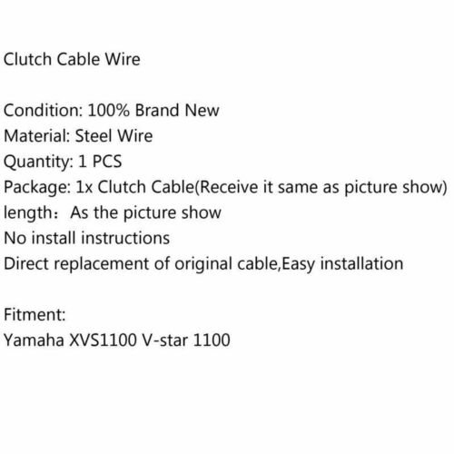 Motorcycle Wire Steel Clutch Cable Fit For Yamaha XVS1100 V-star 1100