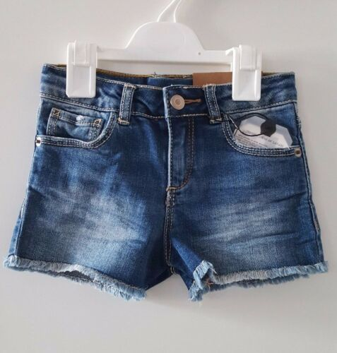 NEW ZARA girls BLUE Aged Denim Short 4 AnsEUR 104 cm Bnwt afficher le titre d'origine