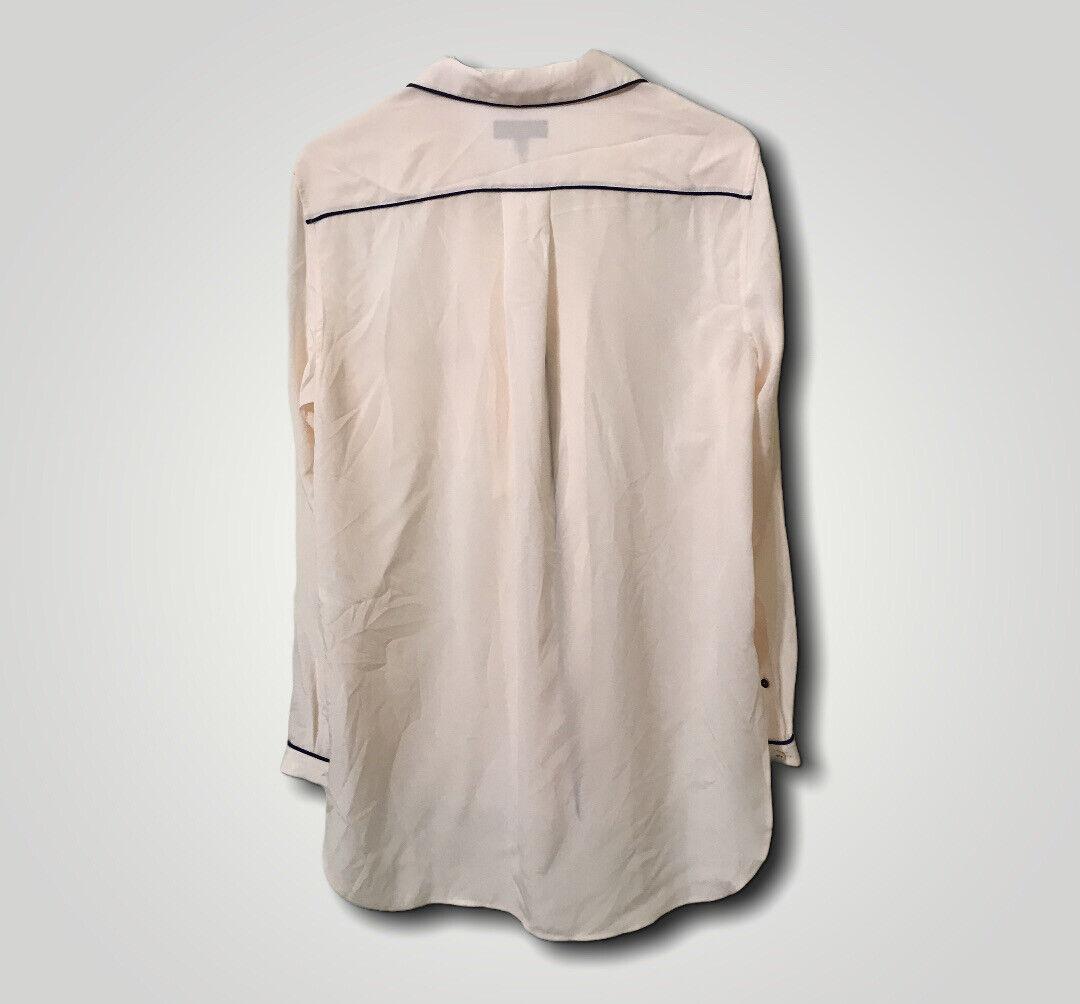 Rag And Bone Alyse Baby Pink Button Down Silk Paj… - image 5