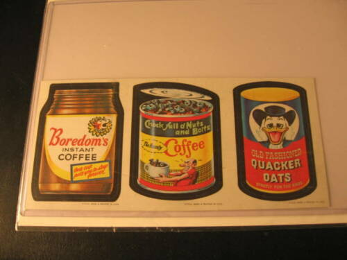 1967 Topps Wacky Packages 3Card Strip #12544