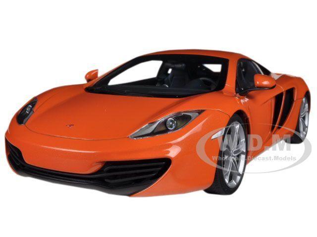 Mclaren Mp4-12c arancia 1 18 Diecast Car Model por Autoart 76006