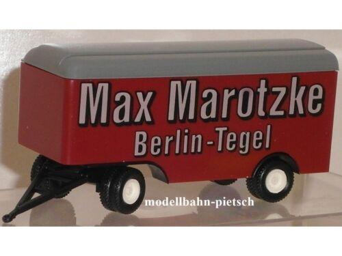 Brekina neu,OVP,1:87 Sondermodell Anhänger Max Marotzke Berlin Tegel 990030