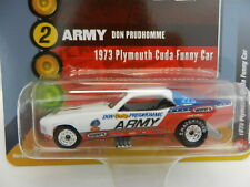 2018 RC 1:64  RACING CHAMPIONS MINT *ARMY* Don Prudhomme '73 CUDA FUNNY CAR
