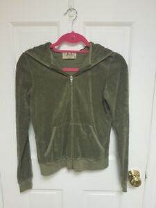 Image is loading Juicy-Couture-Womens-Green-Terry-Cloth-Hoodie-Size- 337277dcc